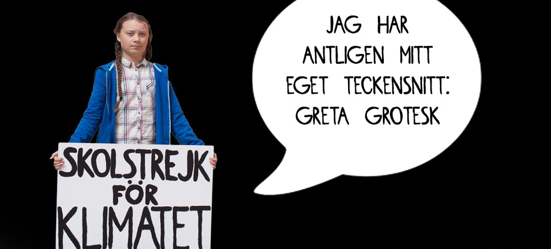 Handschrift van Greta Thunberg