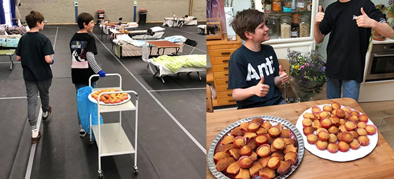 Cupcakes bakken voor daklozen