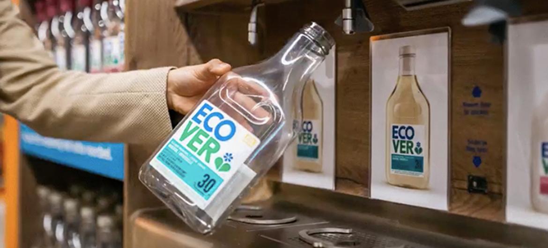 Ecover test 'wasmiddeltaps' in supermarkt