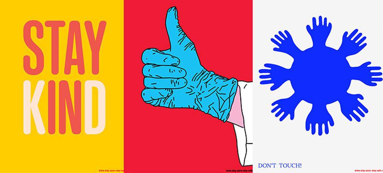 Optimistische corona-posters zijn vrij te downloaden