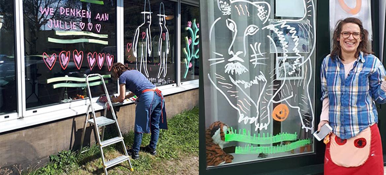 Rotterdamse kunstenaars verrassen ouderen