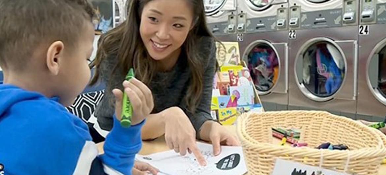 Deze wasserette helpt kinderen