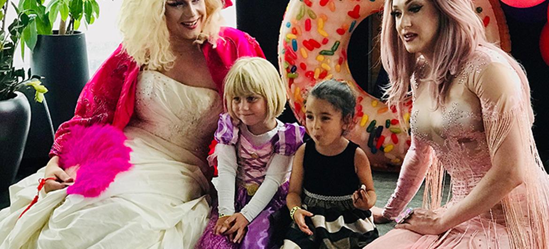 Prinsessen met snorren en prinsen op hakken