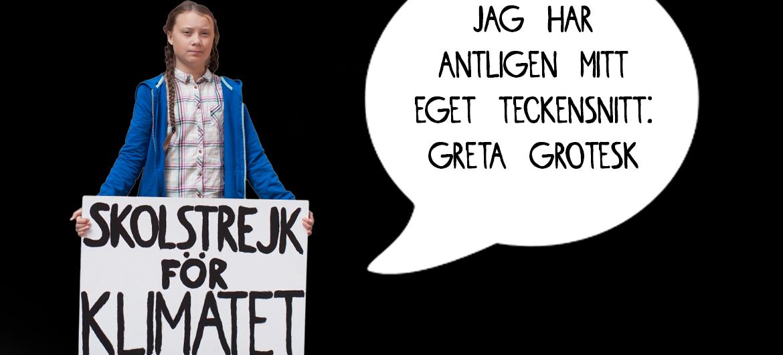 Handschrift van Greta Thunberg downloaden