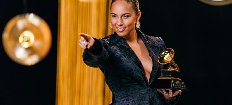 Alicia Keys presenteert Grammy's