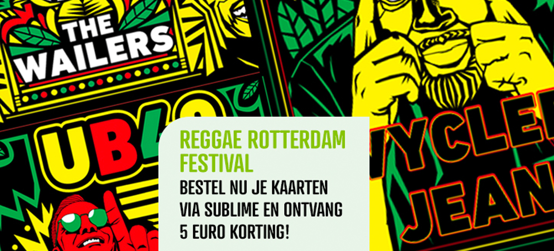 Reggae Rotterdam Festival met €5 korting!