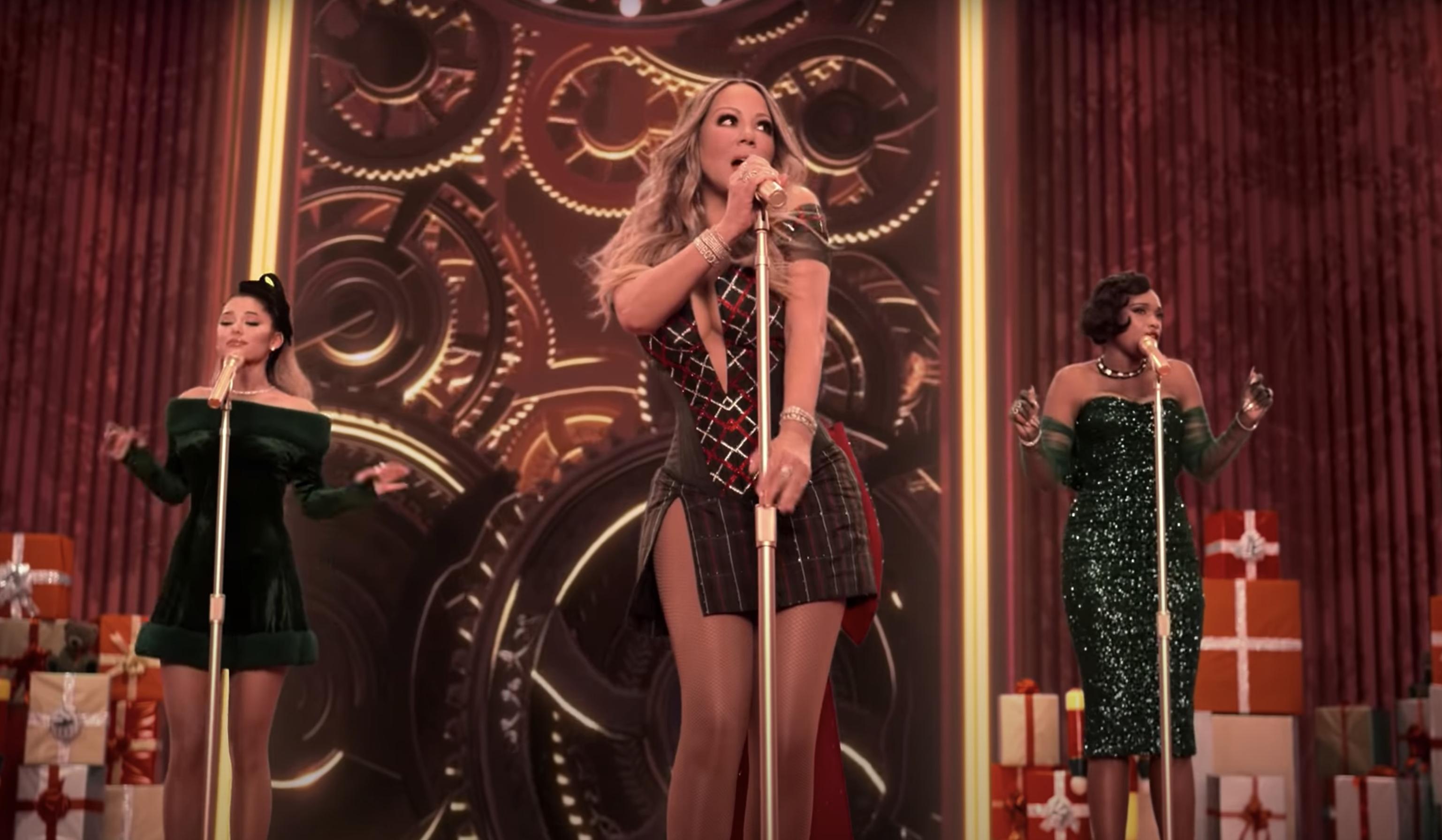 Legendarische samenwerking Mariah Carey, Ariana Grande en Jennifer Hudson