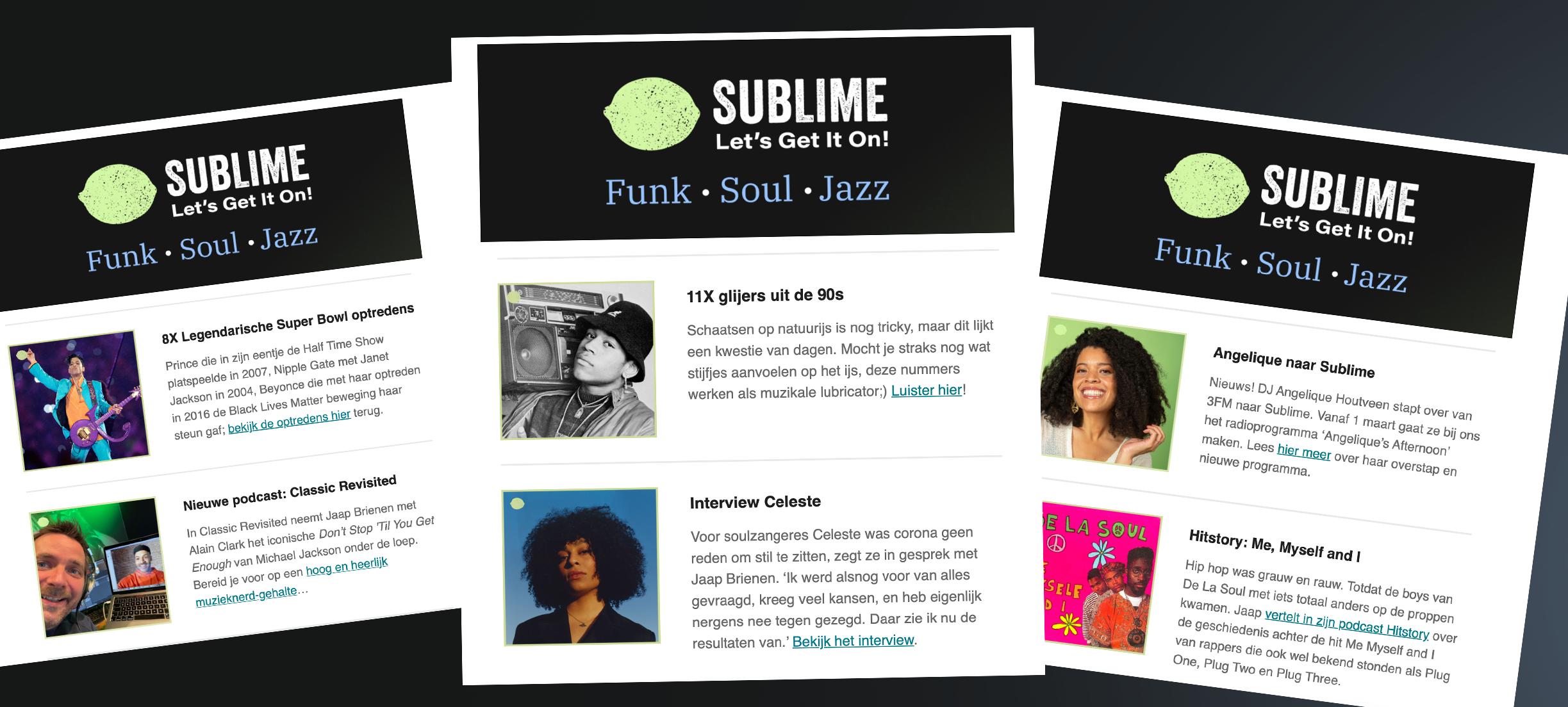 Schrijf je in voor de Sublime Nieuwsbrief en ontvang het laatste muzieknieuws