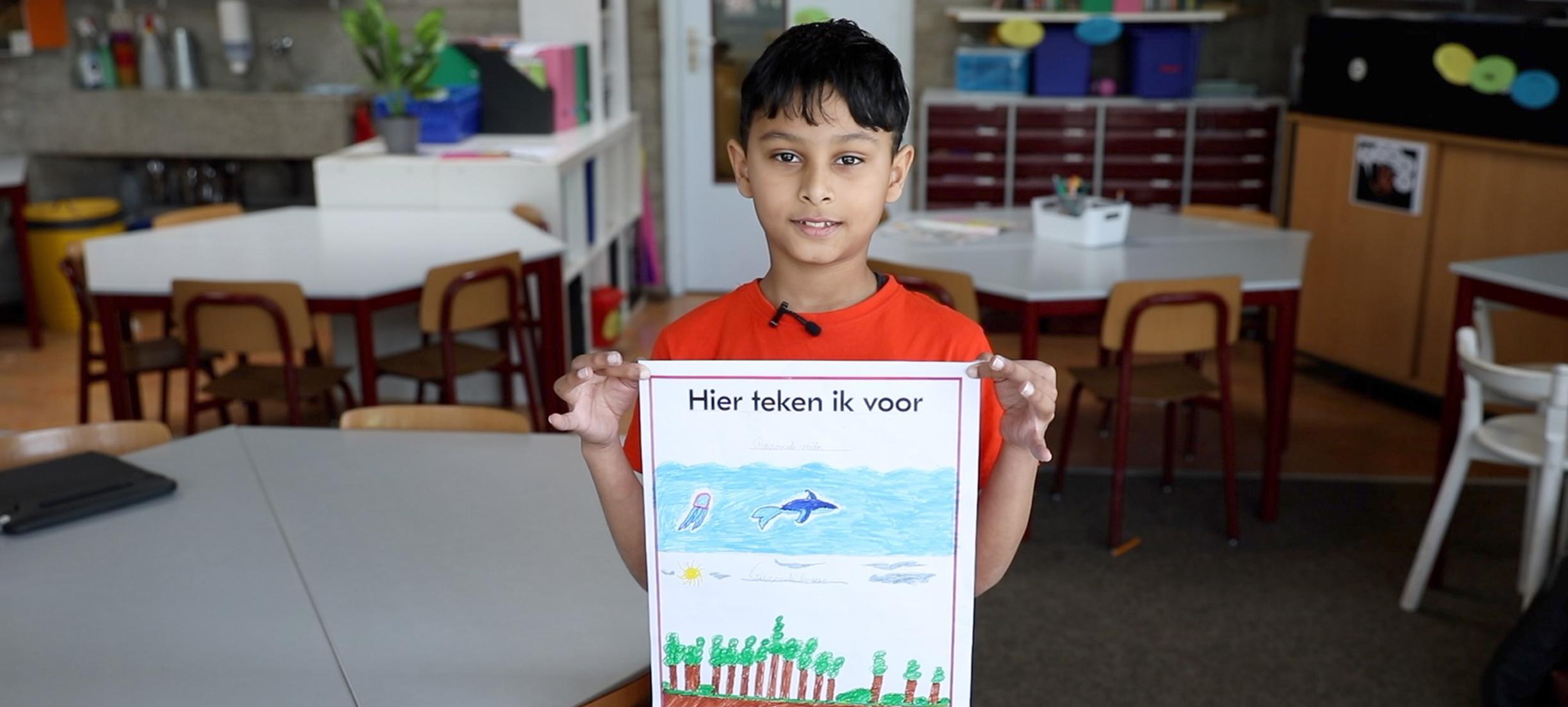 De klas van meester Thijs tekent voor een duurzaam regeerakkoord