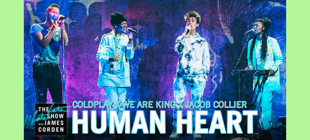 human heart coldplay jacob collier we are king